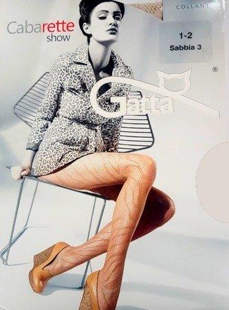 Rajstopy Gatta Cabarette 1-2 Sabia 04 Kabaretki